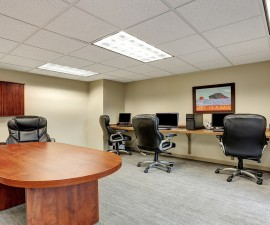 Small Modern meeting room interior in office.